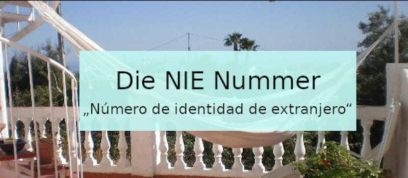 Die NIE Nummer in Spanien