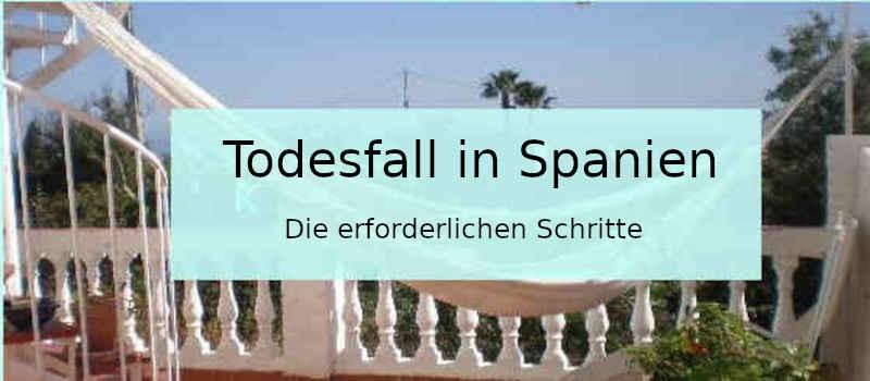 Todesfall in Spanien